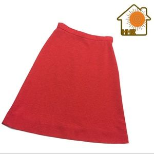 Vintage 1960s🍒 Cherry Red A-Line Pencil Skirt